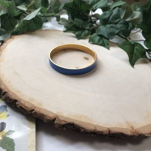 J.Crew Blue and Gold Enamel Bangle Bracelet
